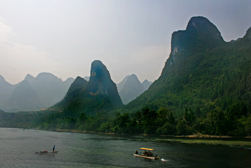 Chinese karsts along the Li River, Guilin & Yangshou, China