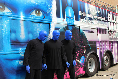 Blue Man Group 6-2013 Art Unveiling