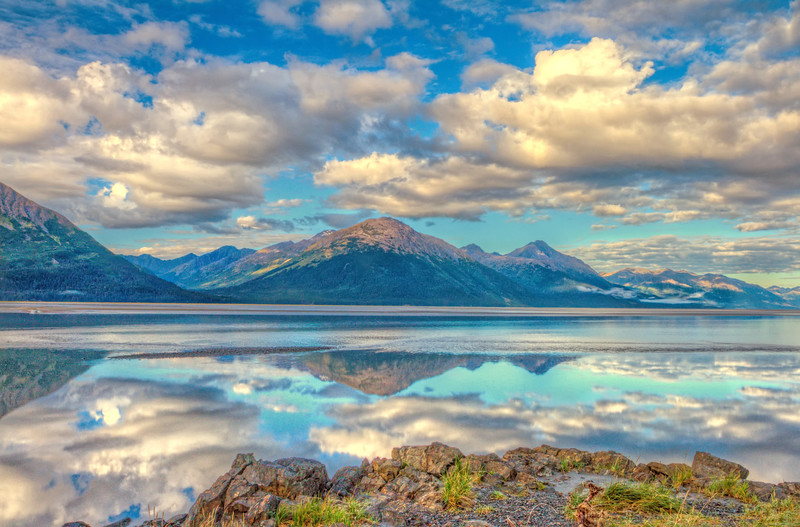 View from the Sterling Highway, Alaska