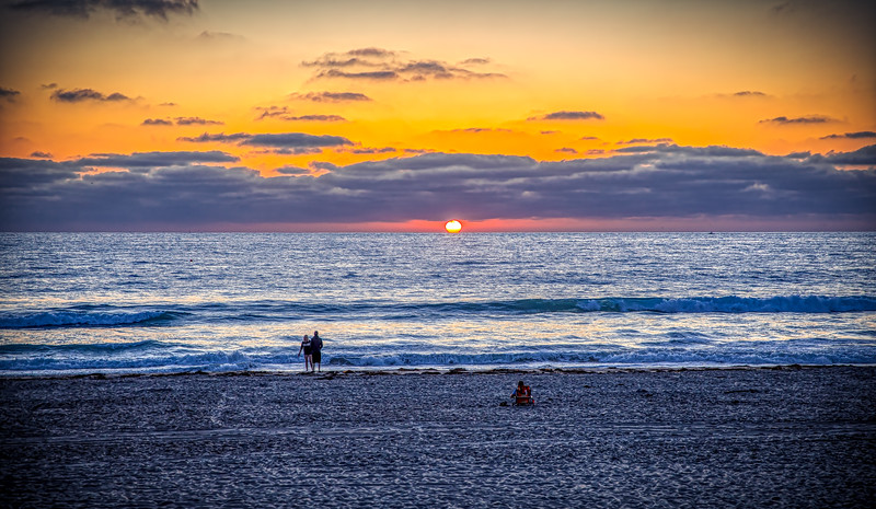 Sunset at Mission Beach, San Diego