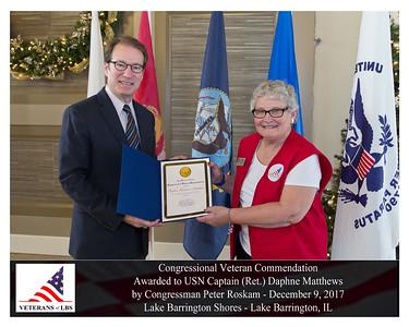 Capt. Daphne Matthews - Veteran Commendation