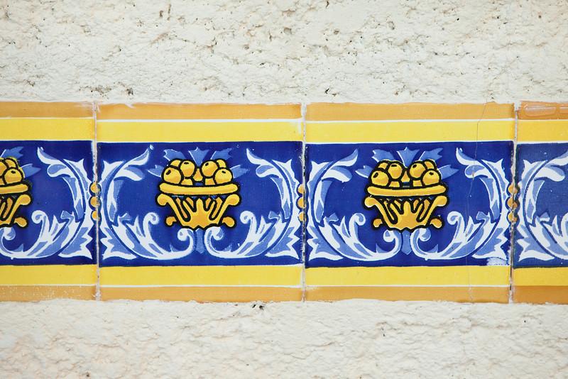 Tile work at Hotel L'Esplanade