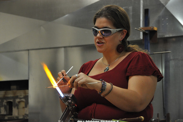 Margaret Zinser class at West Michigan Glass Art Center   2011