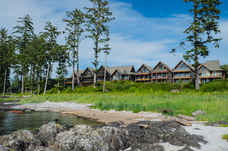 Our Condo in Ucluelet (see John on balcony)