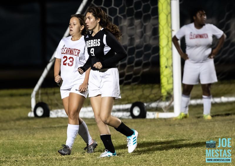 Dixie Hollins Rebels (3) vs Clearwater Tornadoes (0) Girls JV Soccer