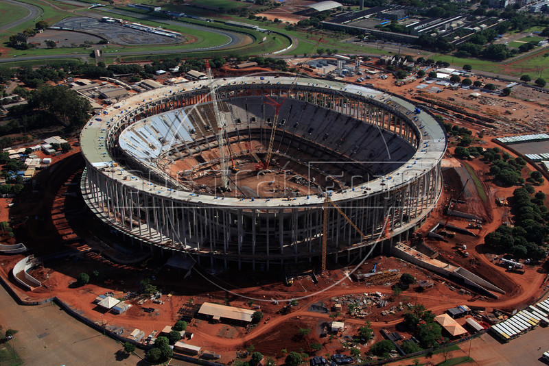 The Mane Garrincha National Stadium in Brasilia, Brazil. The stadium is site of both the Confederations Cup 2013 and World Cup 2014. (Australfoto/Douglas Engle)