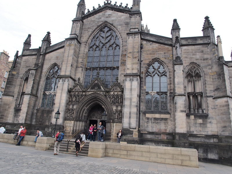 Leaving St Giles' Cathedral
