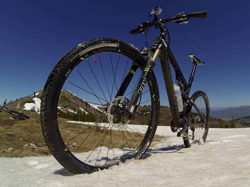 Did it all with a Trek SuperFLY 100 ELite rented from JANS Bike Shop in Park City.