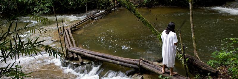Chan KIn, indien Lacandon dans la forêt tropical du Chiapas au Mexique.