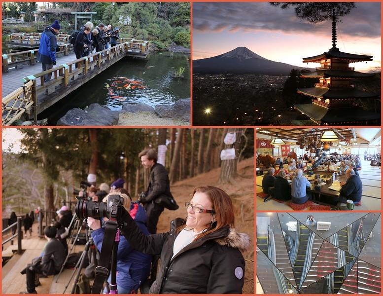 Day 2, Jan 6 Mon: Tokyo-Fujikawaguchiko (Mt. Fuji & Chureito Pagoda)