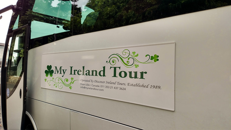 Tour bus for our My  Ireland Tour