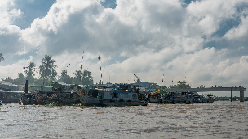 On a day tour to the Cai Be Floating Market from Vinh Long, a French colonial town in the Mekong River Delta of Vietnam.