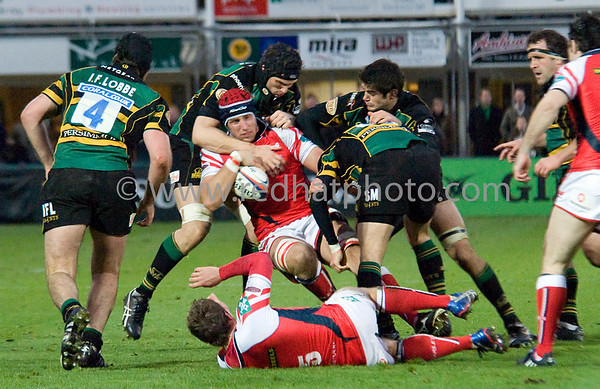 Northampton Saints vs Scarlets, EDF Cup, Franklin's Gardens, 1 November 2008