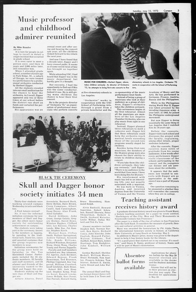 Daily Trojan, Vol. 65, No. 127, May 15, 1973