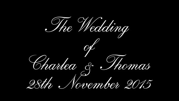 Charlea & Tom wedding video