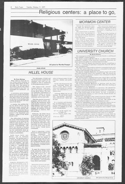 Daily Trojan, Vol. 72, No. 16, October 11, 1977