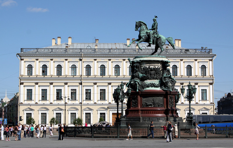 Monument to Nicholas I (on Isaakievskaya Square) near St Isaac's Cathedral.