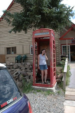 Wendy making a telephone call.