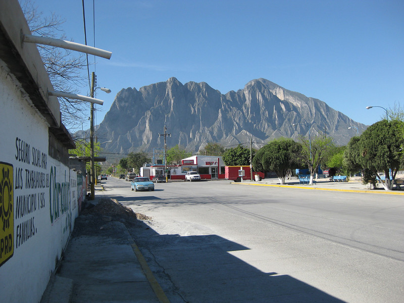 The view of protrero chico from town