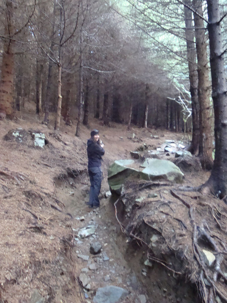 It was time to go hiking again - up over another ridge towards Llyn Crafnant, a few km away.