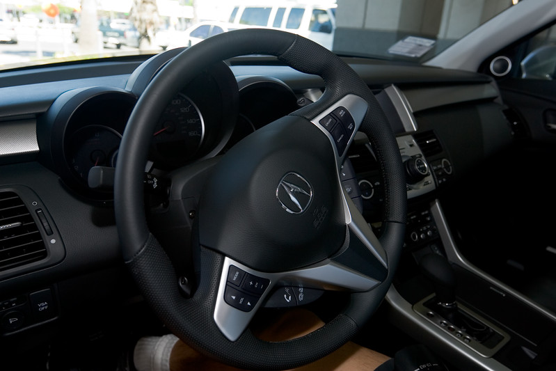 Pete sits behind the wheel of the RDX