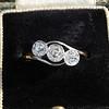 .80ctw Antique English 3-Stone Peruzzi Cut Diamond Ring 0