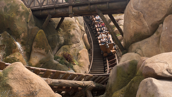 Shanghai Disneyland, Shanghai, Disneyland, Fantasyland, Seven Dwarfs Mine Train, Snow White, 7, Seven, Drawfs, Mine, Train, Coaster, Fast Pass, FastPass, Fast, Pass