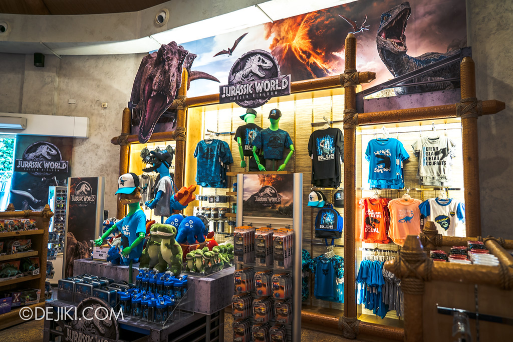 Universal Studios Singapore Park Update - Jurassic World Explore and Roar at Jurassic Park Dino-Store retail revamp 2