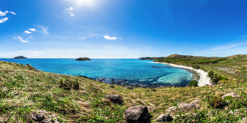 The Bay from Paradise Beach - Yasawa - Fiji Islands