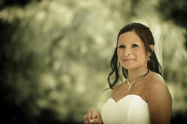 Ashley Wedding getting ready