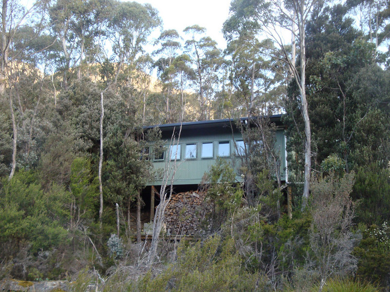 Finally, we reached the Bert Nichols hut, which was massive and modern - the biggest on the track.