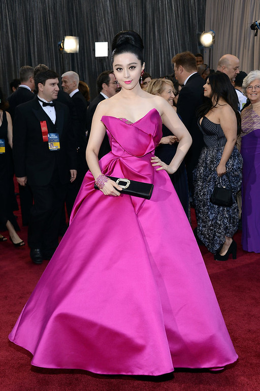 . Actress Fan Bingbing arrives at the Oscars at Hollywood & Highland Center on February 24, 2013 in Hollywood, California.  (Photo by Michael Buckner/Getty Images)