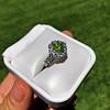 2.48ctw Yellow-Green Round Brilliant Diamond Cluster Ring 13