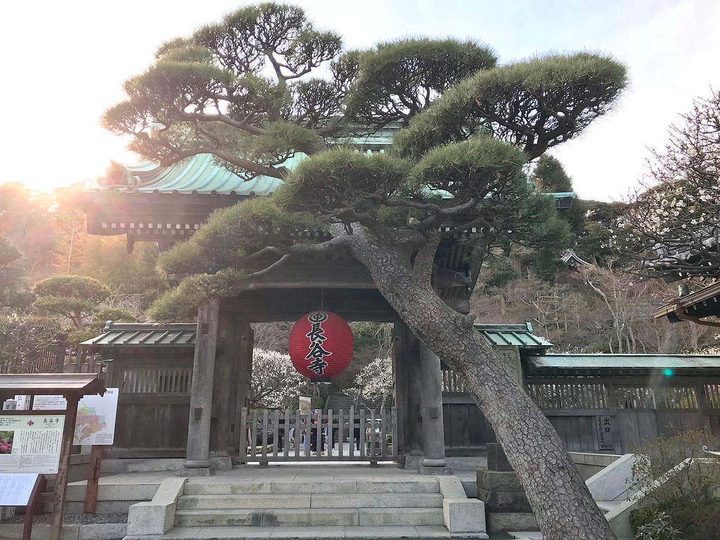 The lantern in front of Hasedera Temple.