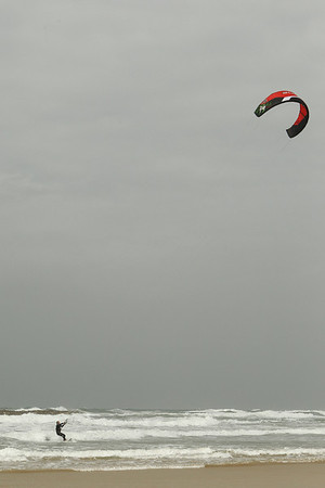 Traction Kiting in Tel Aviv Israel - Feb 2011
