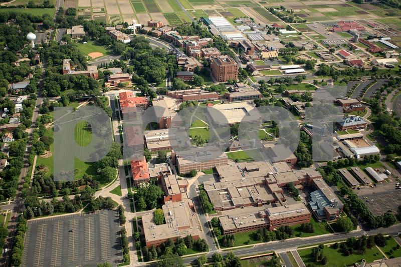 St. Paul, University of Minnesota, aerial view.