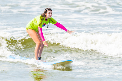 Grace Surfing Long Beach with Skudin Surf 8-28-20