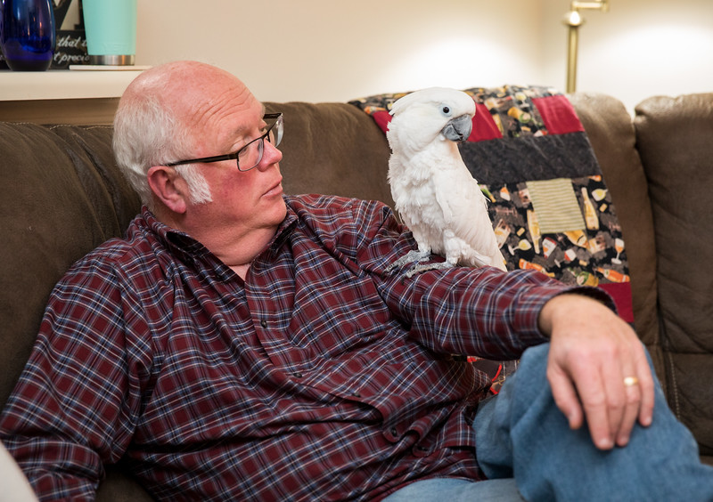 Dad with Bird on his Arm.jpg