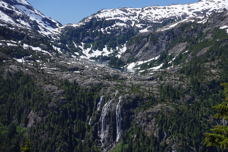 The Love Lake trail climbs higher than Della Falls.