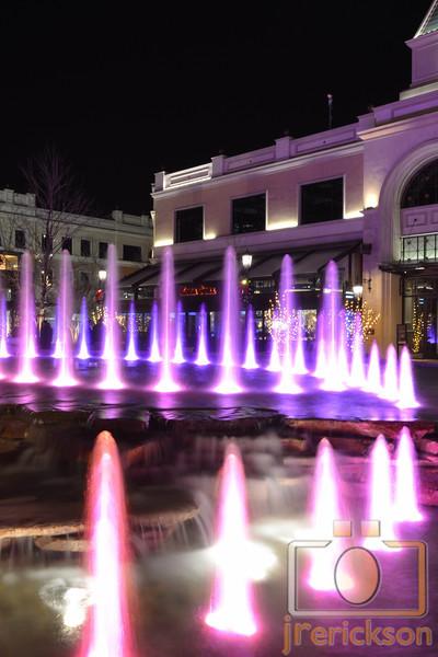 The Village Fountains Purple