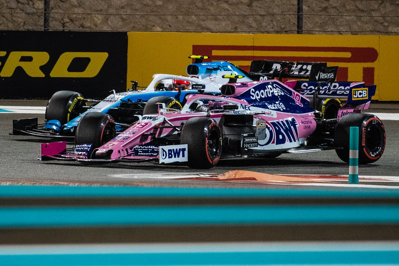 Lance STROLL overtaking Robert KUBICA, UAE/Abu Dhabi, 2019