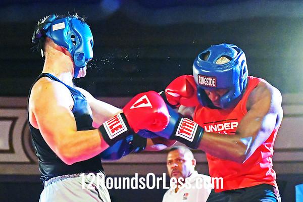 Bout #14:  Monty Merriman (Blue Gloves), Rising Dragon  vs  Oliver Selak (Red Gloves), Revolution Fight & Fitness, 178Lbs., Sub-Novice