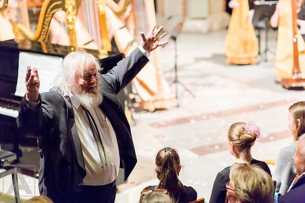"""Suomen harpistit yhdessä Leif Segerstam kanssa """"Kappeli Soi"""" konsertti Turun tuomiokirkko-Naturevisions"""