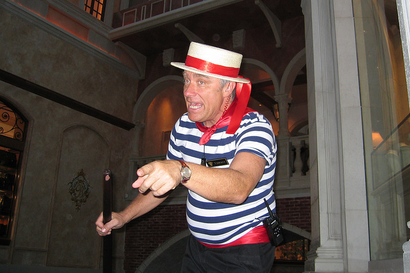 Our gondolier, Umberto, sang some Italian songs.