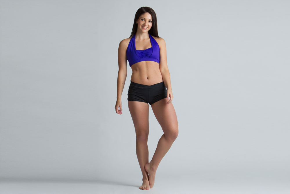 dancer audition photo in fitness clothes