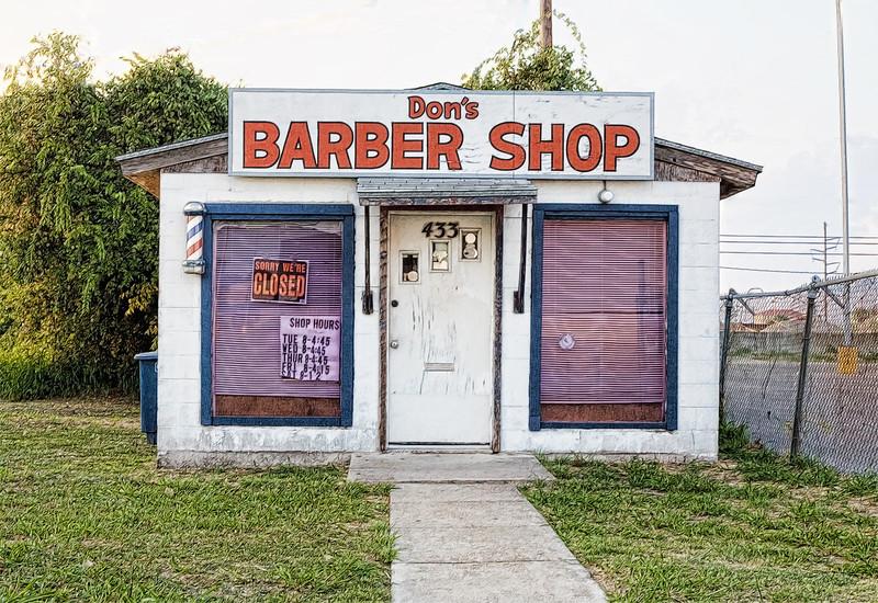 2006-06-25 dons barber shop aransas pass topaz sketch.jpg