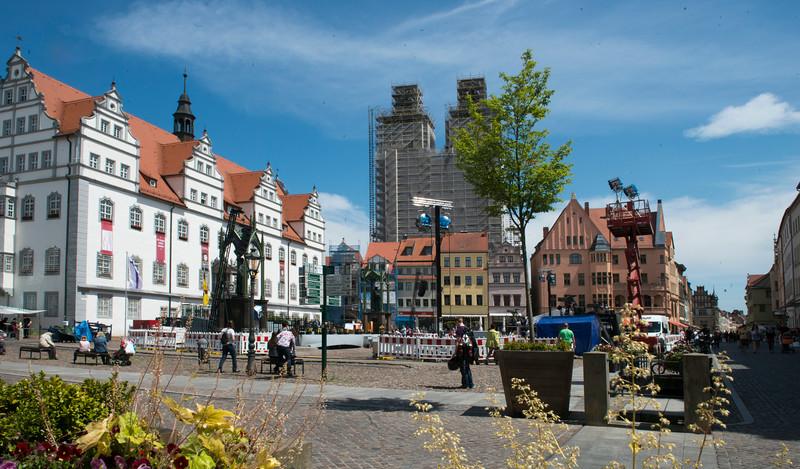 City center, Wittenberg, Germany.