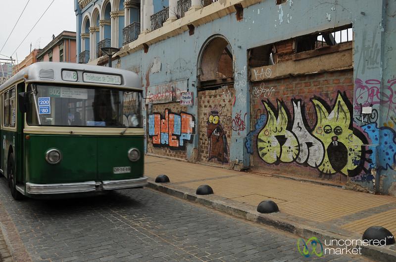 Street Art and Public Transport - Valparaiso, Chile