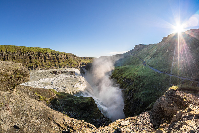 Gullfoss, one of the most visited waterfalls in Iceland