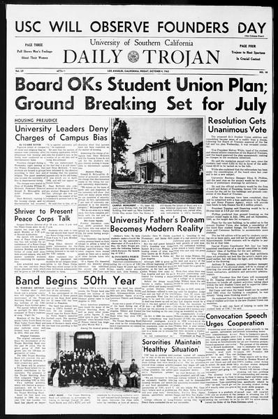 Daily Trojan, Vol. 55, No. 10, October 04, 1963